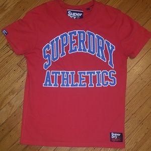 SuperDry Red Spellout T-Shirt  | Medium